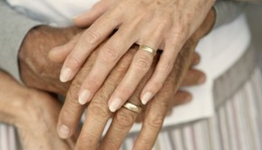 Married Couple's Hands --- Image by © Luke Jarvis/Corbis